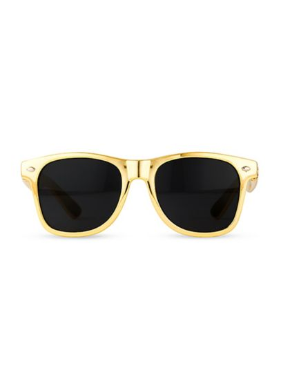 Personalized Metallic Gold Favor Sunglasses - Personalized Metallic Gold sunglasses are the must have