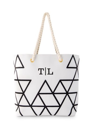 Personalized Geo Prism Tote - Nothing says classic chic and modern quite like