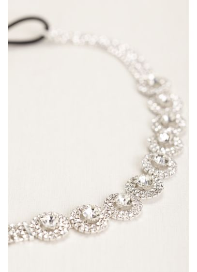 Circle Pave Stretch Headband - Wedding Accessories