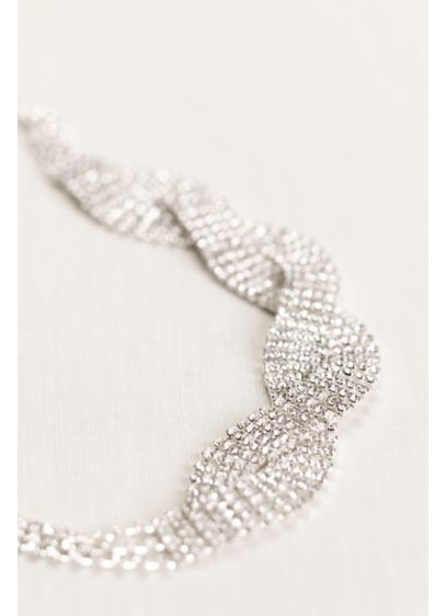 Crystal Chain Woven Head Wrap - Wedding Accessories