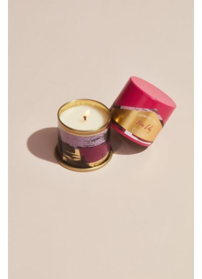 Illume Thai Lily Demi Vanity Tin Candle - Packaged in a giftable, displayable printed metal tin,