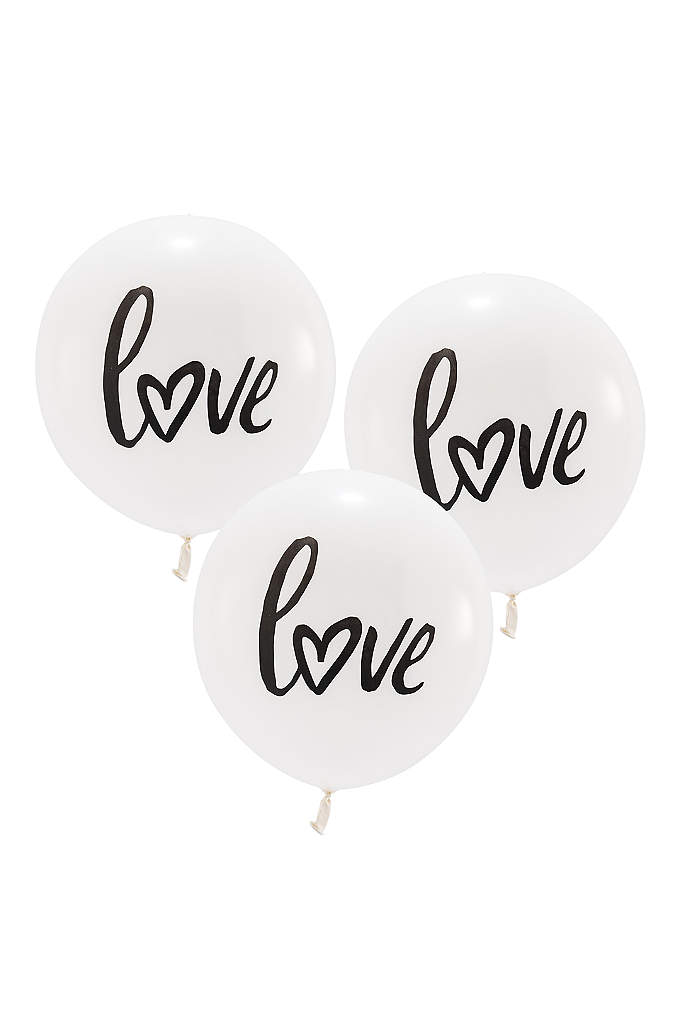 17 Inch White Round Love Balloons Set of - Show everyone that you are in love with