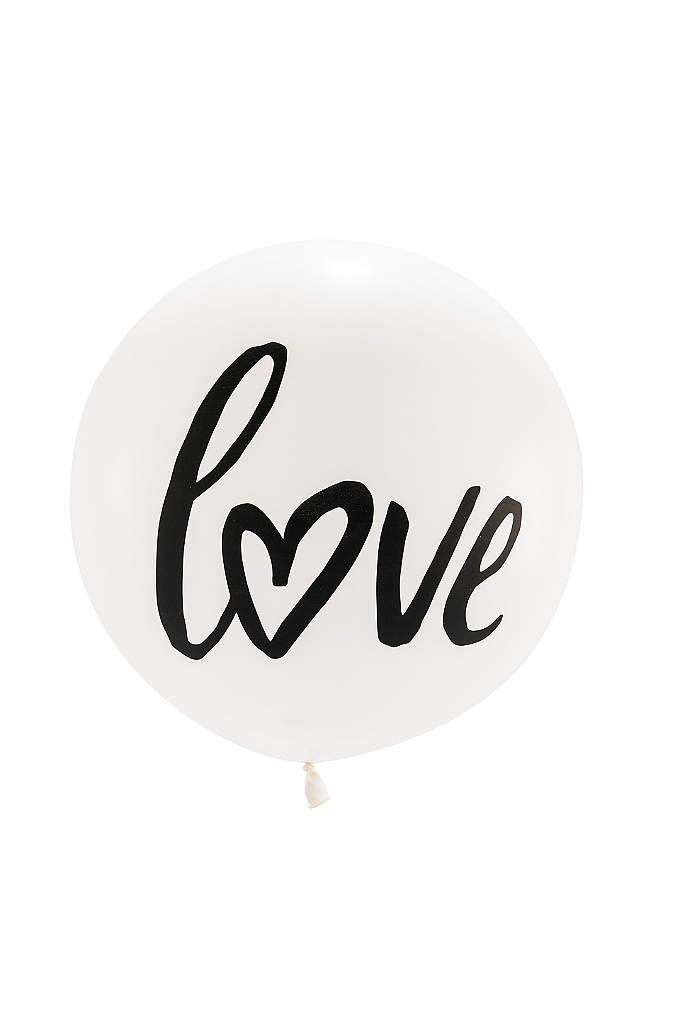 36 Inch Jumbo White Round Love Balloon - These 36