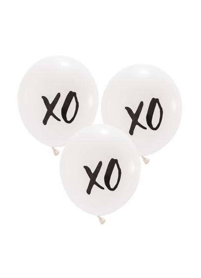 17 Inch White Round XO Balloons Set of 3 - Wedding Gifts & Decorations