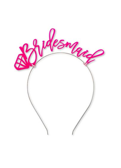 Hot Pink Bridesmaid Bachelorette Party Headband - What better way to celebrate upcoming nuptials with
