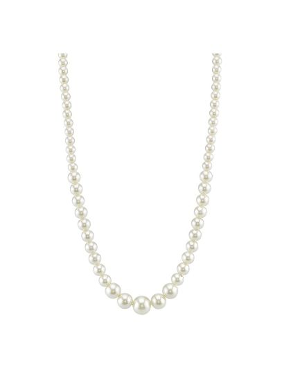 Single Pearl Strand Necklace - Wedding Accessories