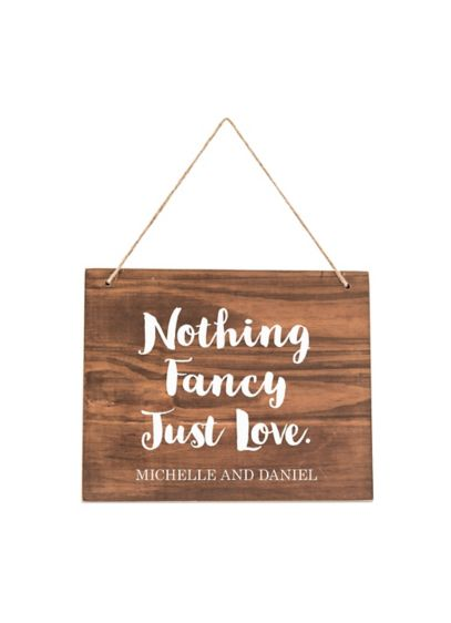 Personalized Hanging Wooden Sign - Complete with a jute rope for hanging, this