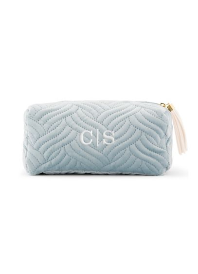 Personalized Quilted Velvet Makeup Bag - Wedding Gifts & Decorations