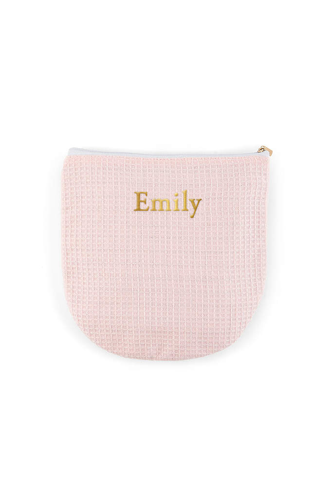 Personalized Waffle Makeup Bag