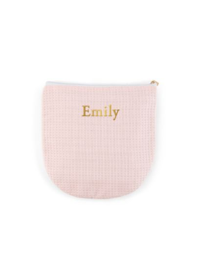Personalized Waffle Makeup Bag - Wedding Gifts & Decorations