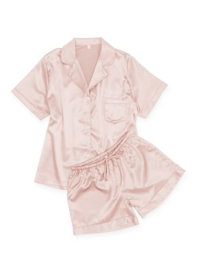 Pink (Personalized Satin Sleep Set)
