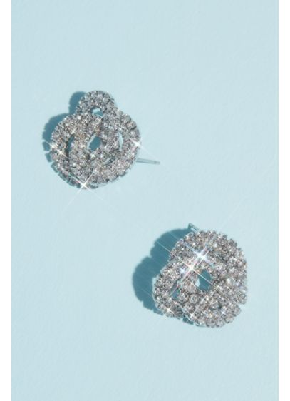 Crystal Love Earrings - These crystal-embellished stud earrings are both timeless and