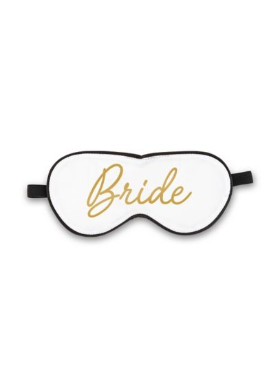 White Satin Bride Sleep Mask - Wedding Gifts & Decorations