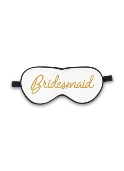 Satin White Bridesmaid Sleep Mask - Satin eye masks are not only fun photo