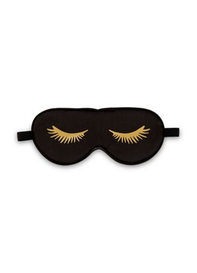 Black Satin Eyelashes Eye Mask - Wedding Gifts & Decorations