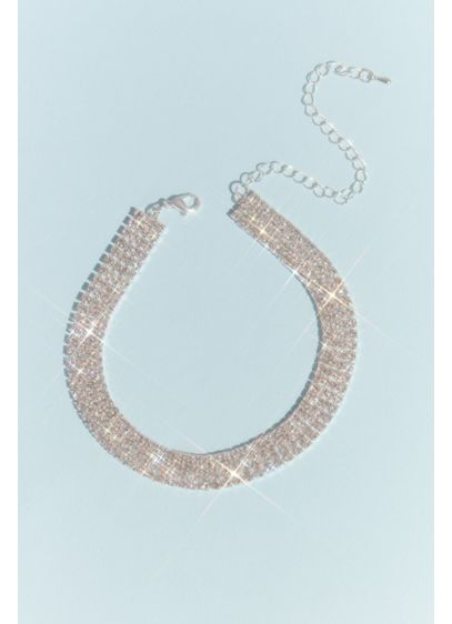 Stacked Strands Crystal Choker - Wedding Accessories