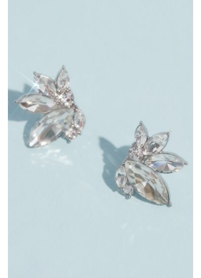 Marquise Crystal Cluster Stud Earrings - Fit for a Roaring 20s themed party or