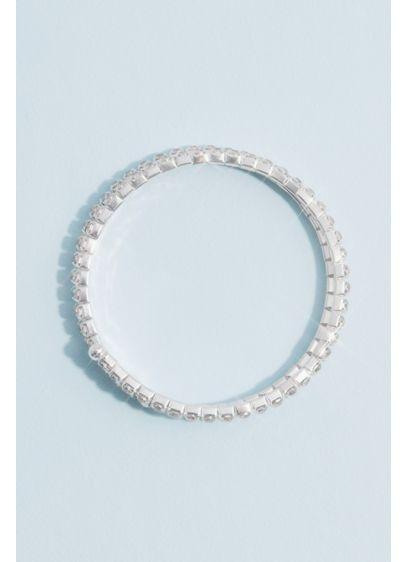 David's Bridal Grey (Crystal Coil Wrap Stack Bracelet)