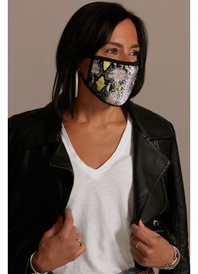 Snakeskin Face Mask with Neon Accents - Wedding Accessories