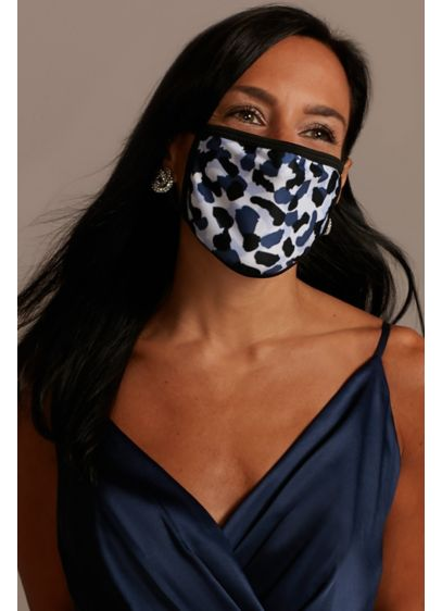 Snow Leopard Printed Cloth Fashion Face Mask - Wedding Accessories