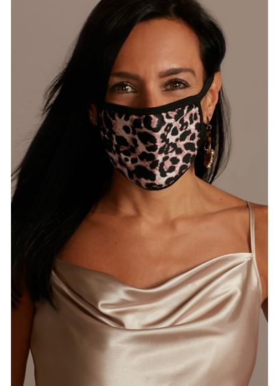Leopard Printed Cloth Fashion Face Mask - Wedding Accessories