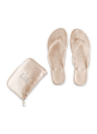 Monogram Foldable Flip Flops - These metallic foldable flip-flops ensure you