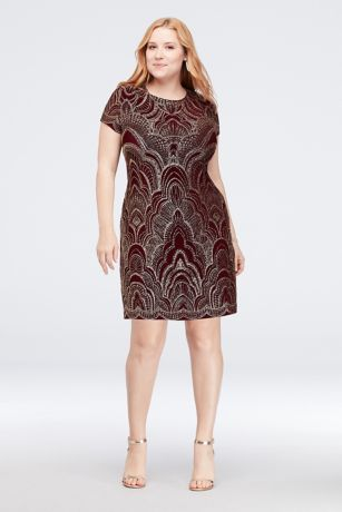 Short Sheath Short Sleeves Dress - Onyx