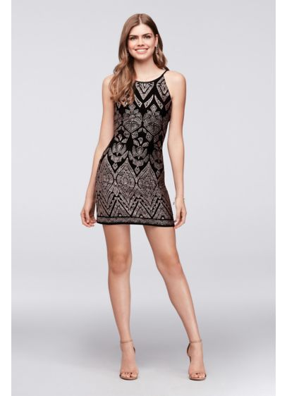 Short Sheath Halter Cocktail and Party Dress - Jump