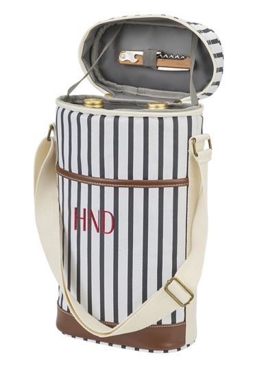 Personalized Striped Wine Cooler - Wedding Gifts & Decorations