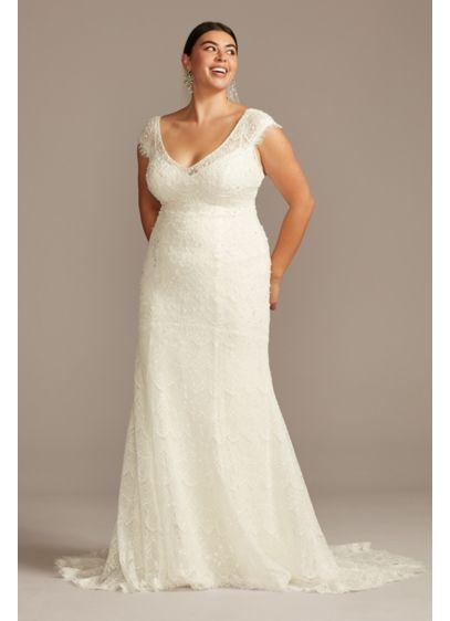 Long Sheath Boho Wedding Dress - Melissa Sweet