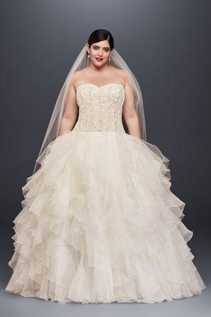 Plus Size Wedding Dresses with Ruffles