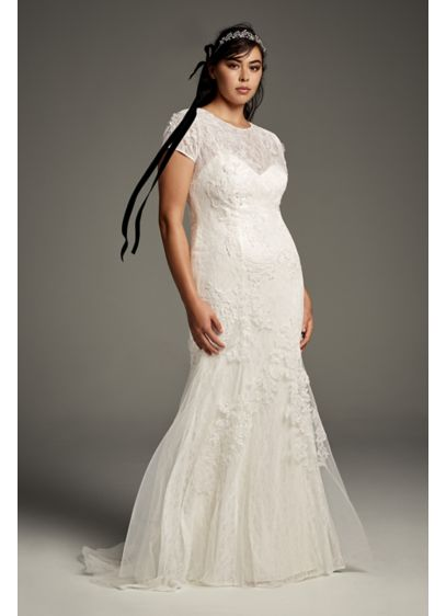 Long Sheath Boho Wedding Dress - White by Vera Wang
