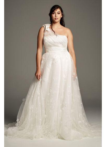 Long A-Line Formal Wedding Dress - White by Vera Wang