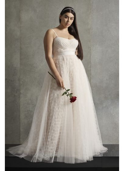 White By Vera Wang Tiered Tall Plus Wedding Dress David S Bridal