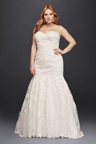 Ivory Lace Wedding Dresses Trumpet Style
