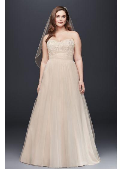 Soft Tulle A Line Plus Size Wedding Dress | David\'s Bridal