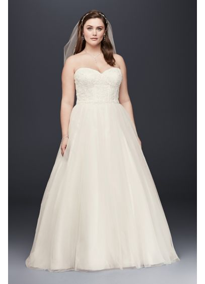 Long Ballgown Formal Wedding Dress - David's Bridal Collection