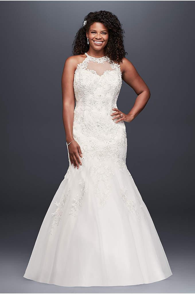 Corset Bodice Mermaid Lace Plus Size Wedding Dress | David\'s Bridal