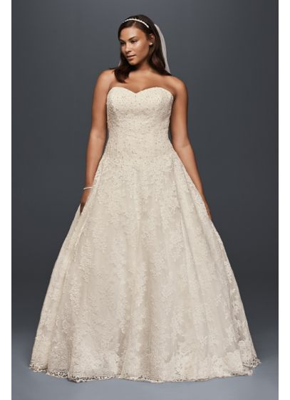 Long Ballgown Country Wedding Dress - Jewel