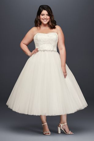 Plus Size Tea Length Party Dresses