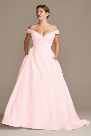 Long Ballgown Cap Sleeves Dress - David's Bridal Collection