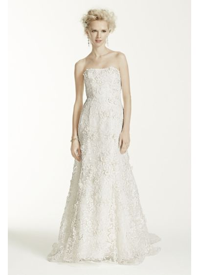 Long Mermaid / Trumpet Country Wedding Dress - Oleg Cassini