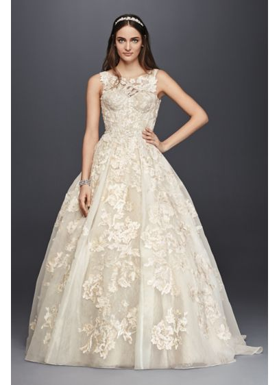 Long Ballgown Modern Wedding Dress -