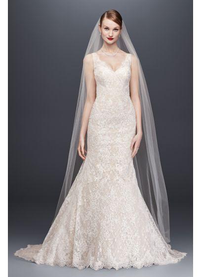Long Mermaid/ Trumpet Glamorous Wedding Dress - Oleg Cassini