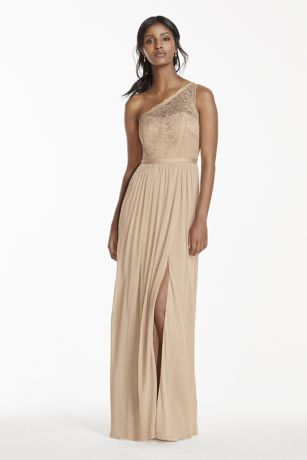 Long A-Line One Shoulder Dress - David's Bridal