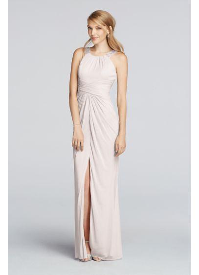 High Low Blue Soft & Flowy David's Bridal Bridesmaid Dress
