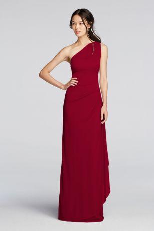 Long Sheath One Shoulder Dress - David's Bridal