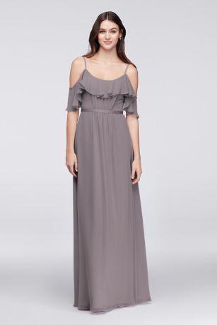 75024fba78ca Soft & Flowy David's Bridal Long Bridesmaid Dress
