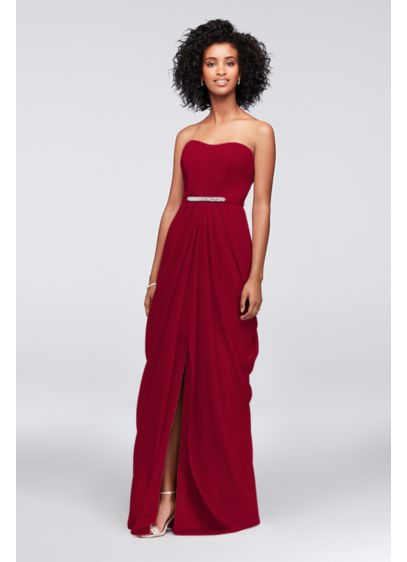 Long Sheath Strapless Dress -