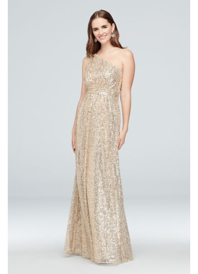 6d1f8f46d5 Allover Sequin One-Shoulder Bridesmaid Dress | David's Bridal
